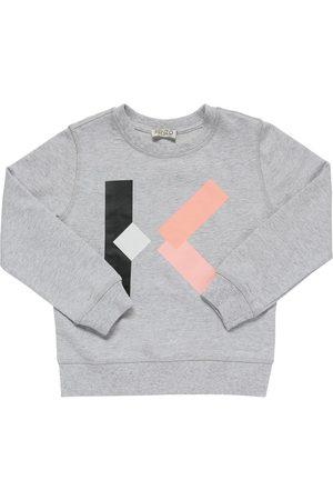 Kenzo Piger Sweatshirts - Logo Print Cotton Sweatshirt