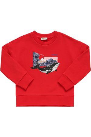 Kenzo Piger Sweatshirts - Printed Cotton Sweatshirt