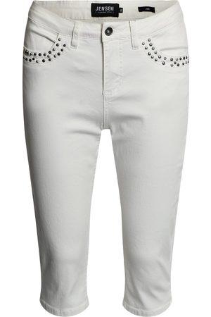 Jensen Kvinder Trekvartbukser - Capri Jeans - Jane - Cloud Dancer - 44 cm / 36