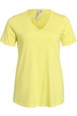 Ciso Kvinder Kortærmede - Basis t-shirt, A-form og med V-hals - Celandine - L