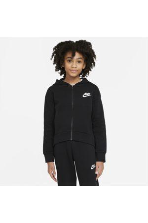 Nike Piger Hoodies - Sportswear Club Fleece-hættetrøje med lynlås til store børn (piger)
