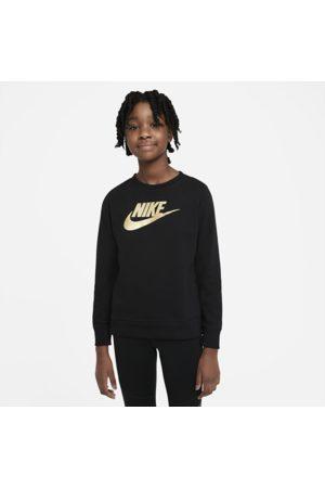 Nike Sportswear-crewtrøje i french terry til store børn (piger)
