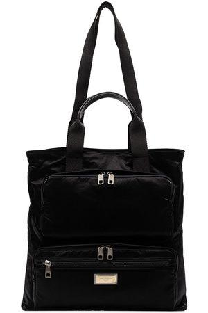 Dolce & Gabbana Mænd Stofposer - Zip-pocket tote bag