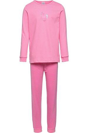 Schiesser Piger Pyjamas - Girls Pyjama Long Pyjamassæt Lyserød