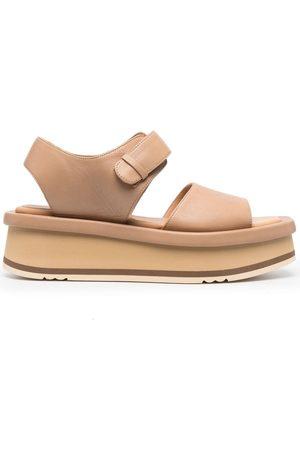 Paloma Barceló Kvinder Pumps sandaler - Mamore plateau-sandaler i læder
