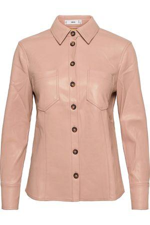 MANGO Kvinder Langærmede skjorter - Nastia Langærmet Skjorte Lyserød