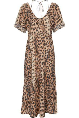 Victoria Beckham Kvinder Mønstrede kjoler - Leopard-print midi dress