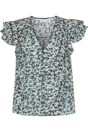 VERONICA BEARD Kvinder Toppe - Joi printed cotton top