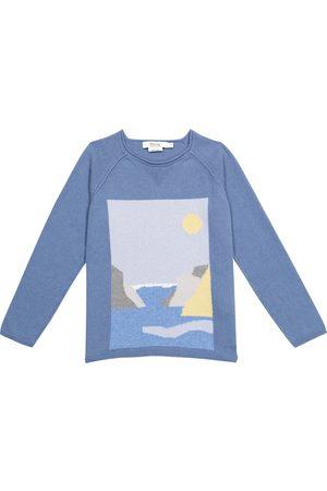 BONPOINT Drenge Strik - Intarsia cashmere and cotton sweater