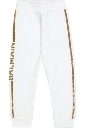 Balmain Piger Joggingbukser - Sequined cotton sweatpants