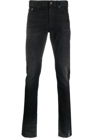 Saint Laurent Mænd Straight - Denimjeans med logomærke
