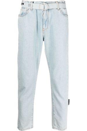 OFF-WHITE Mænd Bælter - Cropped jeans med bælte