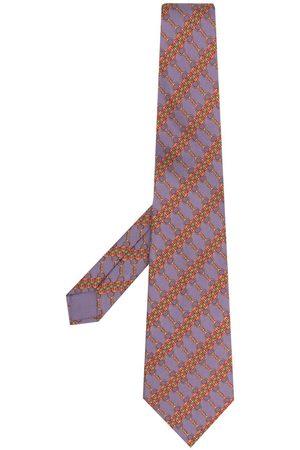 Hermès Mænd Slips - Pre-owned slips med kædeprint fra 00'erne