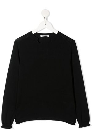 Paolo Pecora Drenge Strik - Finstrikket trøje med hakkrave