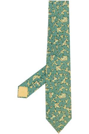 Hermès Mænd Slips - Pre-owned slips med blomsterprint fra 00'erne