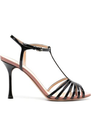 Francesco Russo Two-tone leather sandals