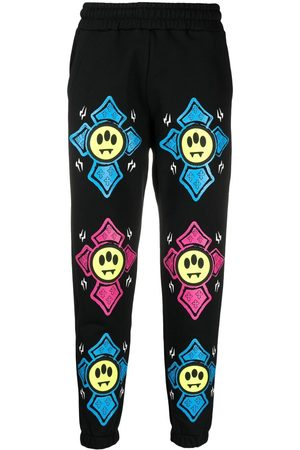 BARROW Joggingbukser - Graphic-print mid-rise track pants