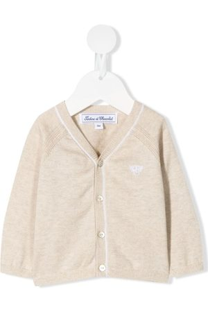 Tartine Et Chocolat Logo embroidered cardigan