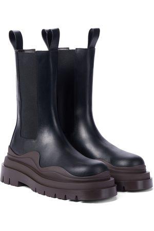 Bottega Veneta BV Tire leather ankle boots