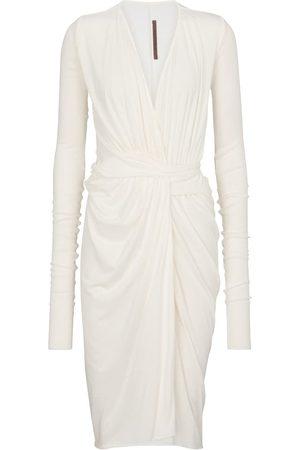 Rick Owens Kvinder Midikjoler - Lilies draped midi dress