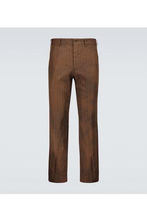 Comme des Garçons Homme Deux Mænd Habitbukser - Tailored striped pants