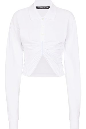 Y / PROJECT Ruched cotton poplin shirt