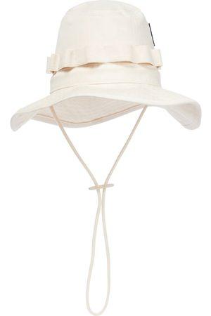 Jil Sander Kvinder Hatte - Cotton herringbone bucket hat