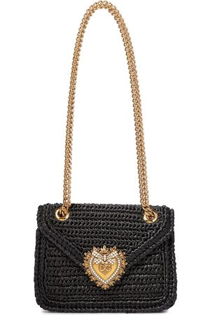 Dolce & Gabbana Devotion Medium raffia shoulder bag