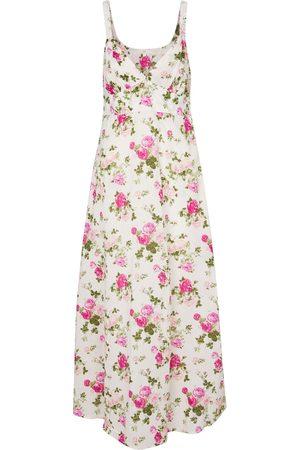 LOVESHACKFANCY Kvinder Midikjoler - Sabina floral cotton midi dress