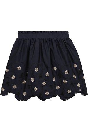 Tartine Et Chocolat Broderie anglaise cotton skirt