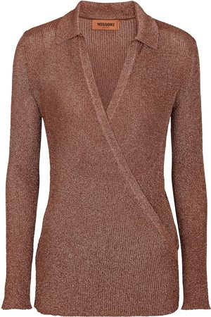 Missoni Kvinder Toppe - Metallic knit wrap top