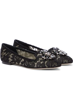 Dolce & Gabbana Vally embellished lace ballet flats
