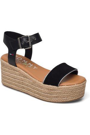 Tommy Hilfiger Kvinder Pumps sandaler - Essential Flatform Sandal Espadrillos Med Hæl Sandal