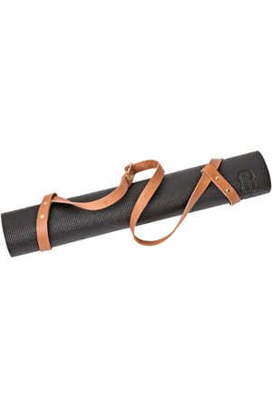 Stolbjerg Copenhagen Bærestrop til yogamåtte Cognacfarvet læder og messingdetaljer