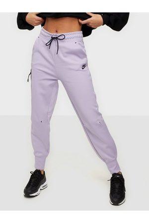 Nike Kvinder Joggingbukser - W Nsw Tch Flc Pant Joggingbukser Lilac