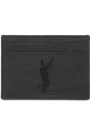 Saint Laurent Mænd Punge - Embossed Leather Card Holder