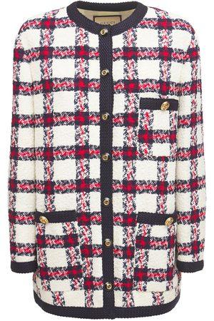 Gucci Web Wool Blend Tweed Jacket
