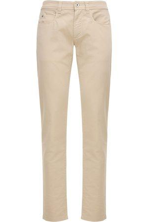 Loro Piana 18cm Stretch Cotton Jeans