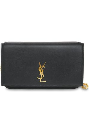 Saint Laurent Monogram Leather Phone Holder W/strap