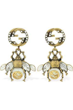 Gucci Bee Motif Embellished Earrings