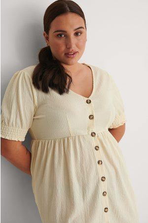 NA-KD Kvinder Casual kjoler - Genanvendt Jerseykjole Med Knapper