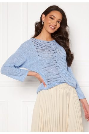 JACQUELINE DE YONG Smilla 3/4 Pullover Brunnera Blue M