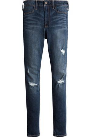 Hollister Kvinder Slim - Jeans 'DK DESTROY
