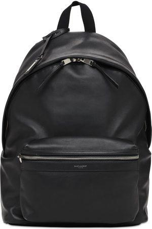 Saint Laurent Logo Leather City Backpack