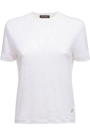LORO PIANA Kvinder Kortærmede - Linen Jersey Roundneck T-shirt