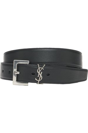 Saint Laurent 3cm Monogram Smooth Leather Belt