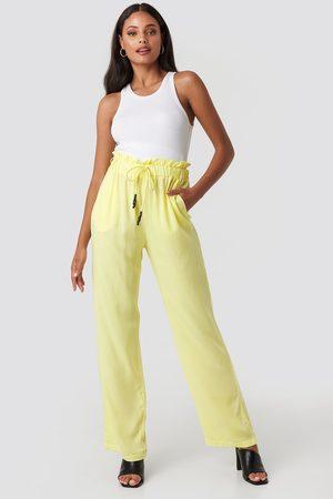 NA-KD Kvinder Kassebukser - Paperbag Wide Leg Trousers