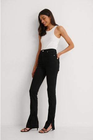 NA-KD Kvinder Skinny - Økologiske Højtaljede Skinny Jeans Med Sideslids