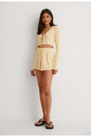 NA-KD Kvinder Shorts - Ribbede Fritidsshorts Af Genanvendt Materiale