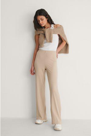 NA-KD Kvinder Bukser - Genanvendte Ribbede Bukser